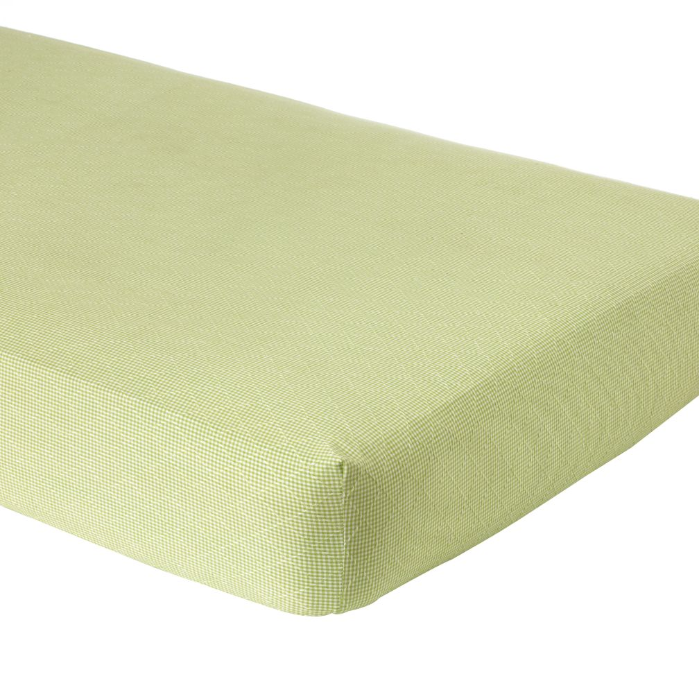 Green Gingham Fitted Sheet